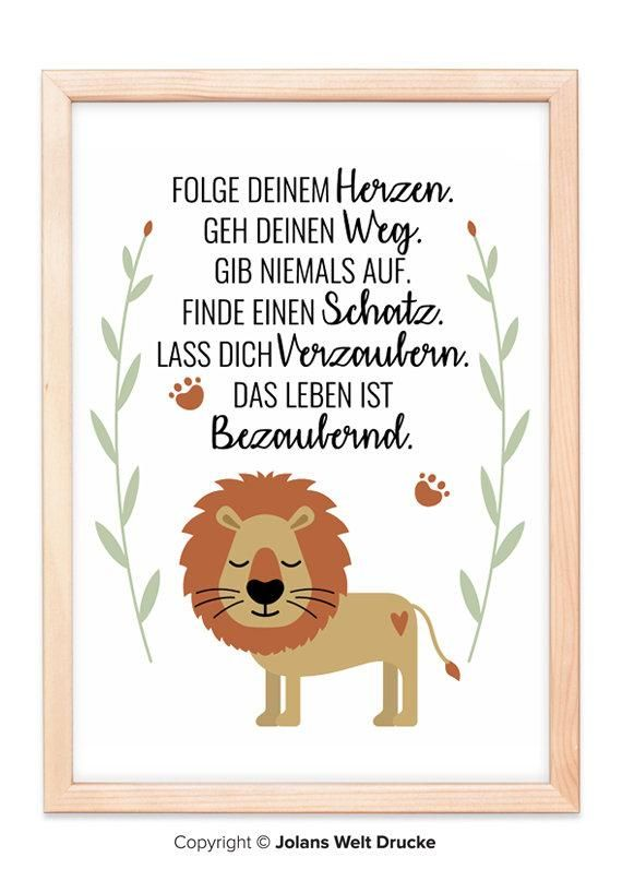 LÖWE von Jolanswelt Kunstdrucke, Poster, Geschenk, Deko