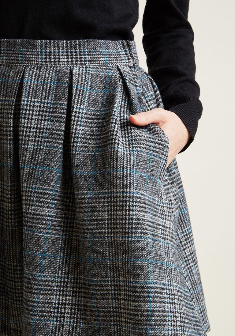 6fa8486ab0 Plaid High-Waisted Mini Skirt with Pockets | Formally Classy | Plaid ...