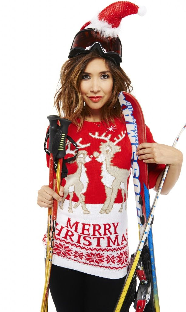 Myleene Klass is supporting Text Santa Christmas Jumper Day, which is this year raising money for the Text Santa charities TheFuss.co.uk