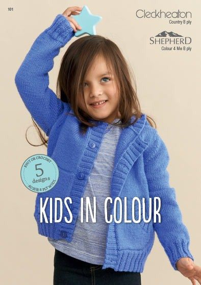 Cleckheaton and Shepherd Kids in Colour - knit or crochet ...