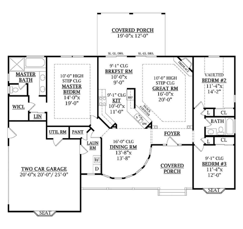 Country Style House Plan 3 Beds Baths 1800 Sq Ft