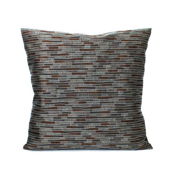 Lumbar Pillow Cover Teal Pillow Stripe Upholstery Fabric Decorative Pillow Oblong Throw Pillow Cover 14x26 12x24 12x21 12x18 12x16 10x20