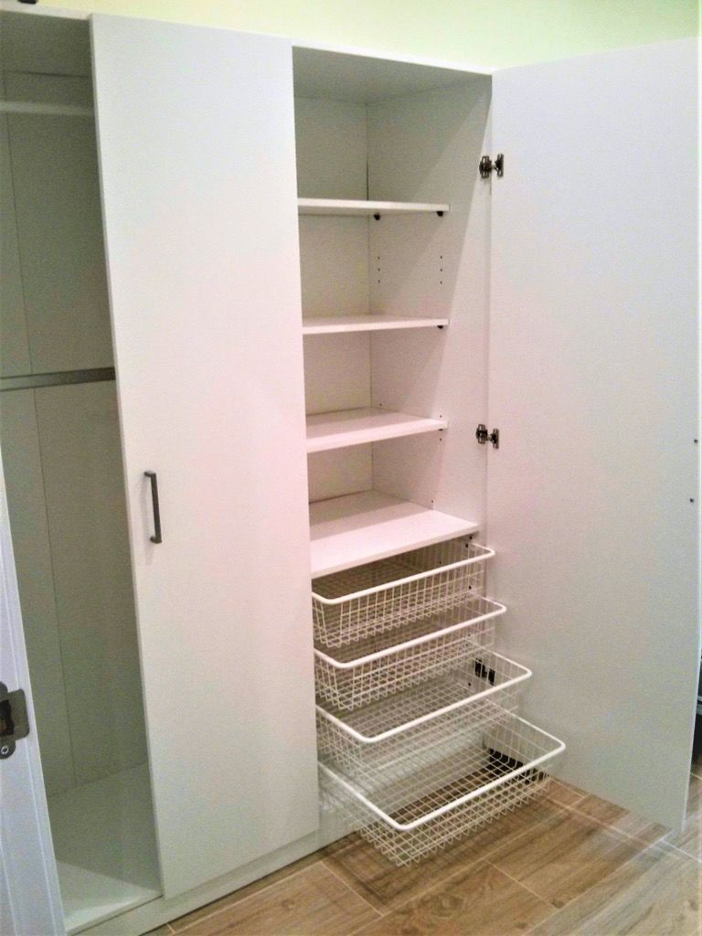 Dombas Wardrobe How To Add More Shelves And Drawers Ikea Hackers Ikea Wardrobe Ikea Wardrobe Hack Dombas Wardrobe