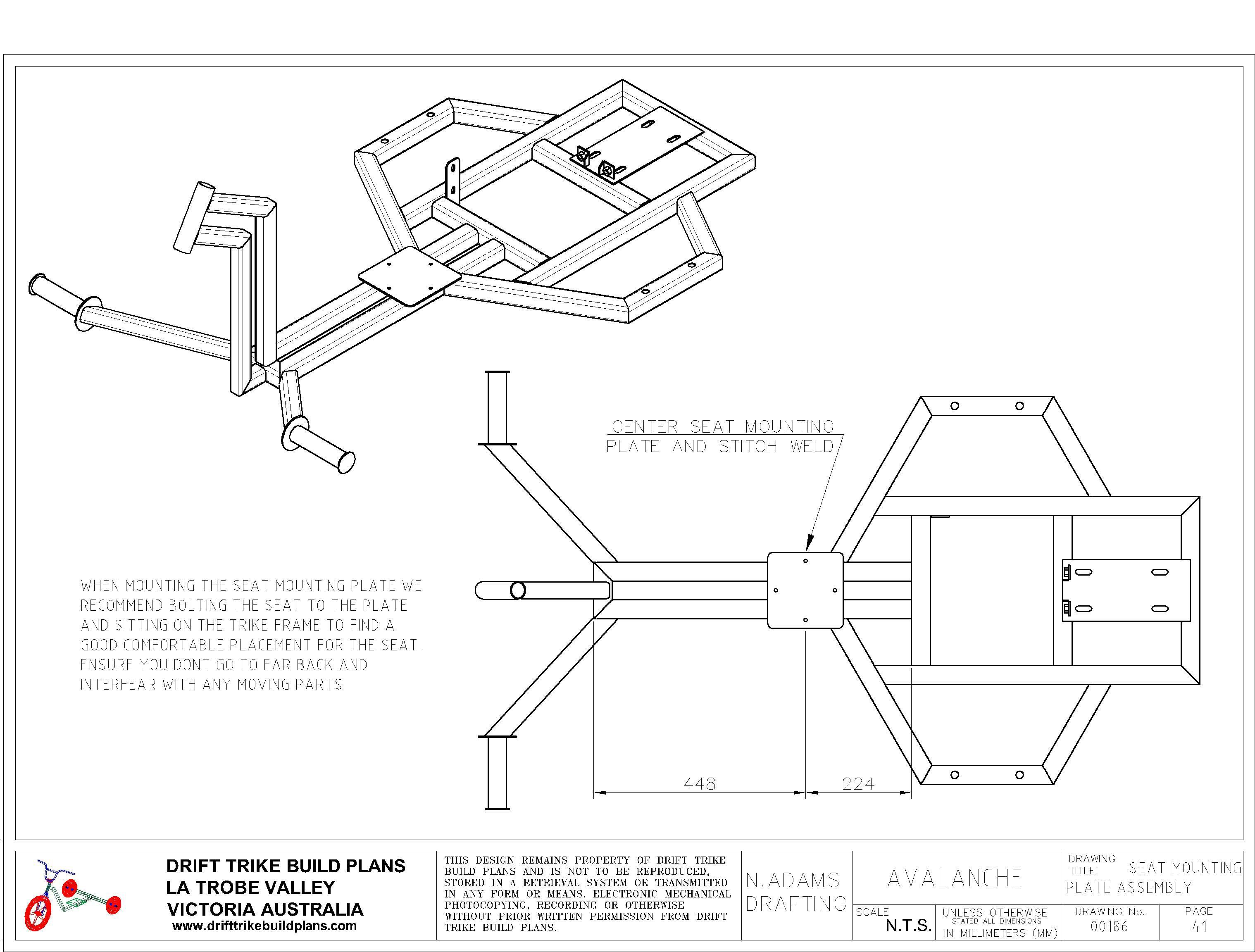 Drift trike plan frame projects to try pinterest drift trike custom trikes and bike drift