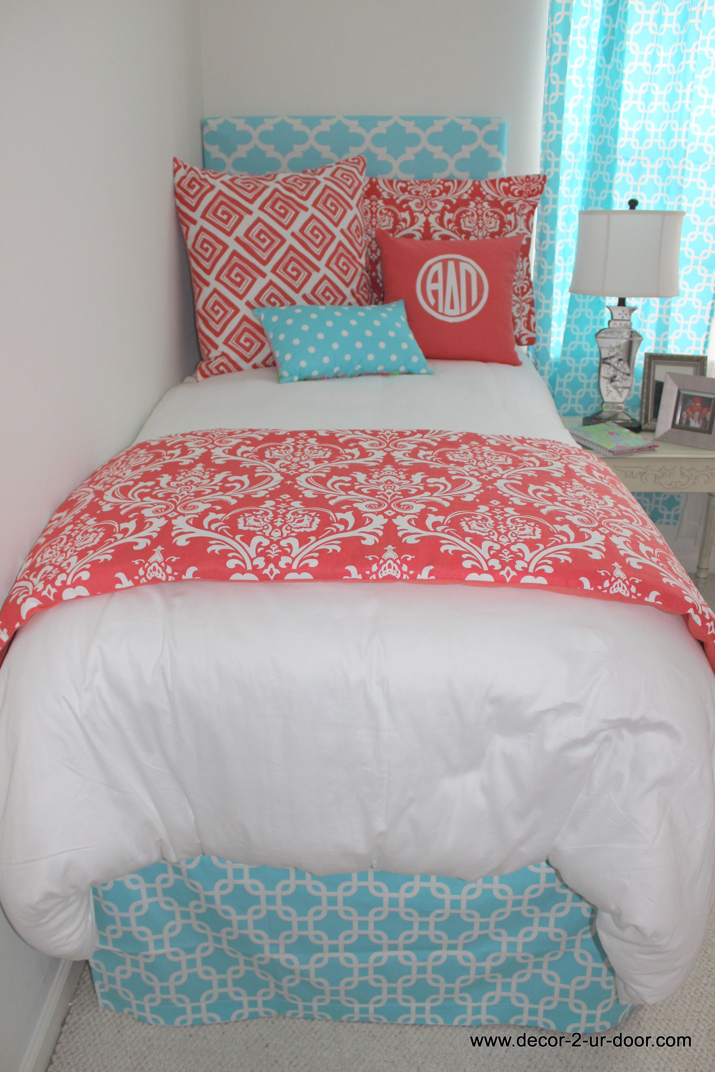 Coral And Aqua New Dorm Bedding Set Www Decor 2 Ur Door