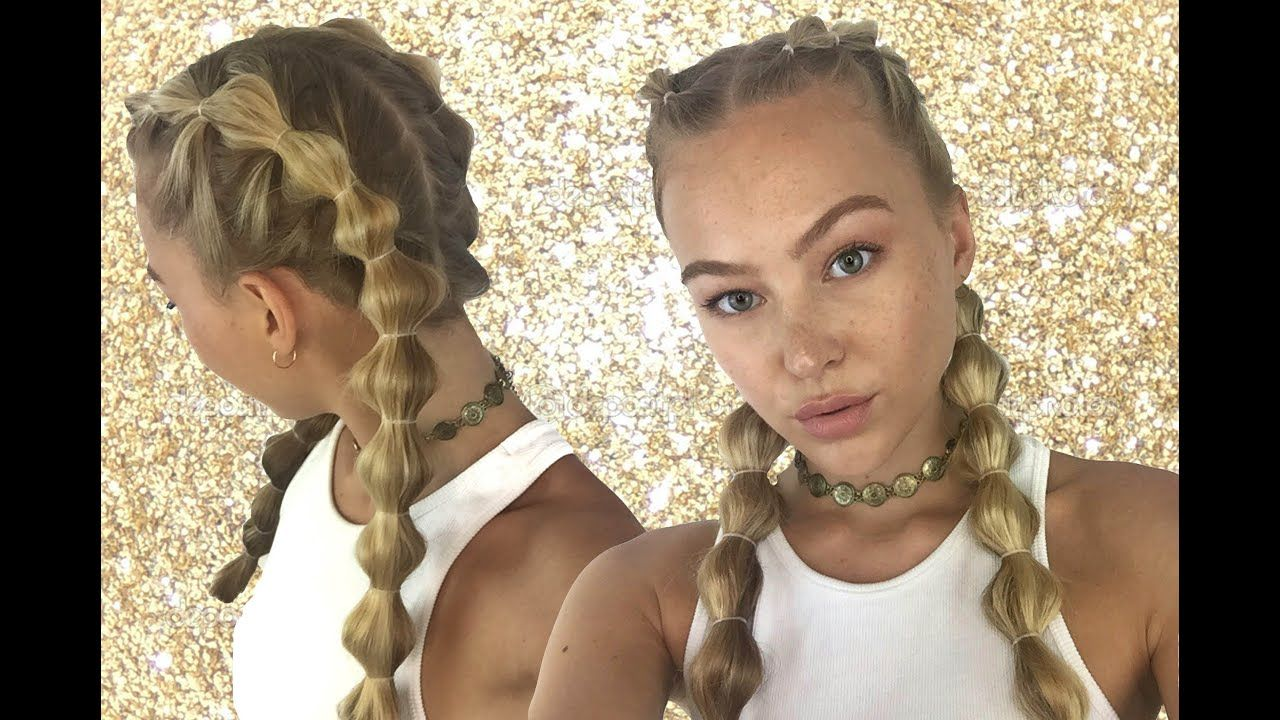 How To Bubble Braid Your Own Hair Tutorial Hollie Hobin