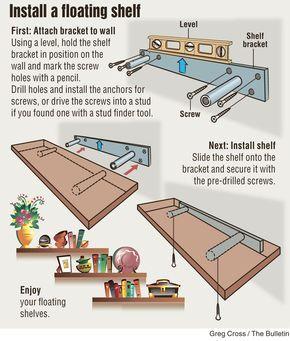 Diy Install Floating Shelf Floating Shelves Diy Shelves Floating Shelves