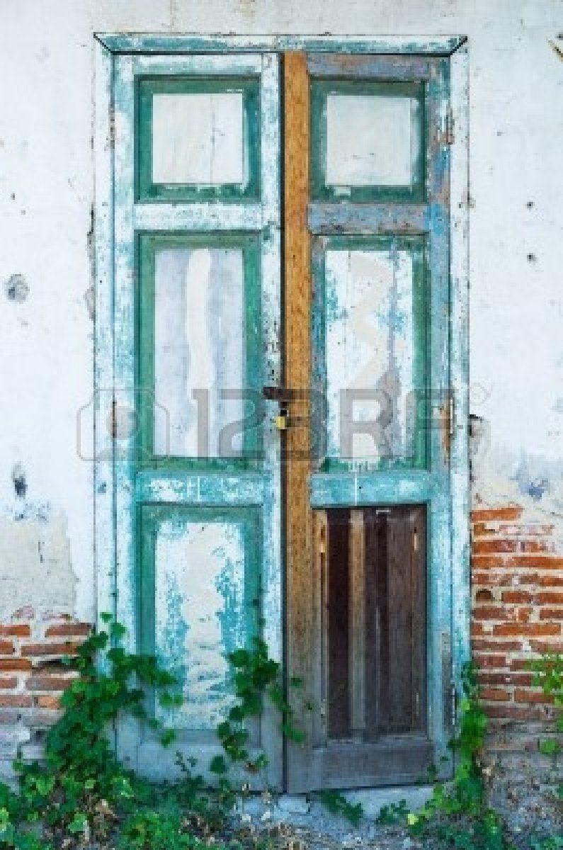 puerta de madera vieja estilo vintage puerta cerrada