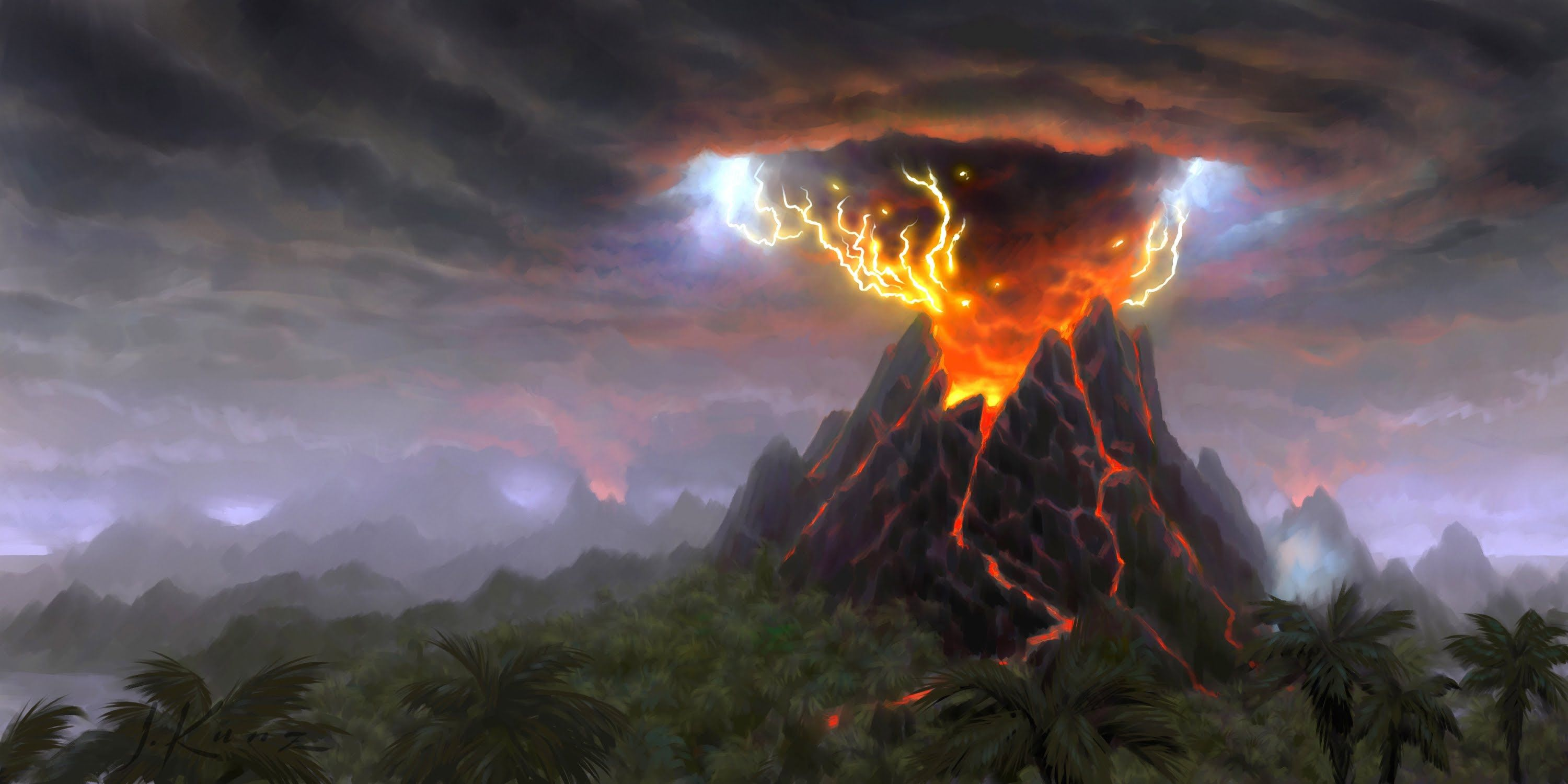 Top 10 Horrible Natural Disasters That Affected The World These Terrible Acts Of Nature That Were Caught On Came World Of Warcraft Cataclysm Art World Volcano
