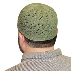 Cotton Blend Knit Kufi Muslim Prayer Mens Skull Cap Available in different Color