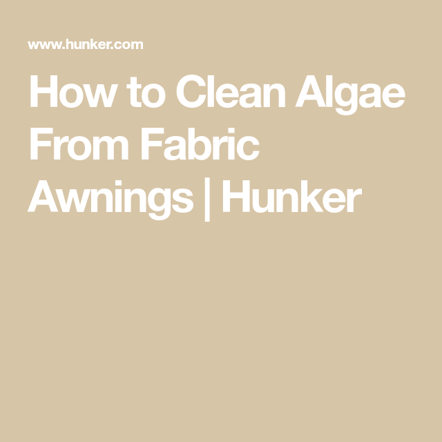 How To Clean Algae From Fabric Awnings Fabric Awning Cleaning Mold Mildew