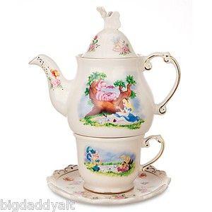 Disney Parks Alice in Wonderland Mad Hatter Tea Kitchen Towel Dish Set of 2 NEW