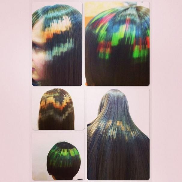New Haircolor Trend Pixelated Hair With Images Hair Color Latest Hair Trends Hair Trends