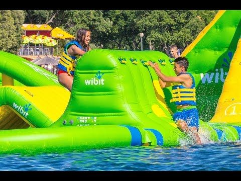 Nona Adventure Park is featuring an inflatable, floating obstacle course, wakeboarders pulled along by cables and a 60-foot climbing tower with ropes course. See you this summer!