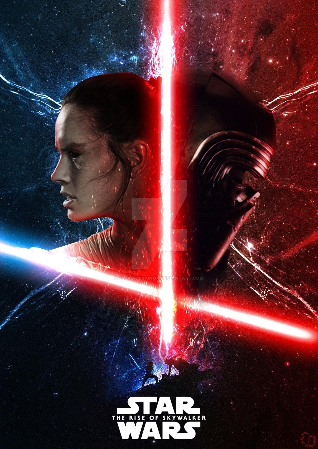 The Rise Of Skywalker By Oliviadesignok On Deviantart Star Wars Background Star Wars Wallpaper Star Wars Artwork