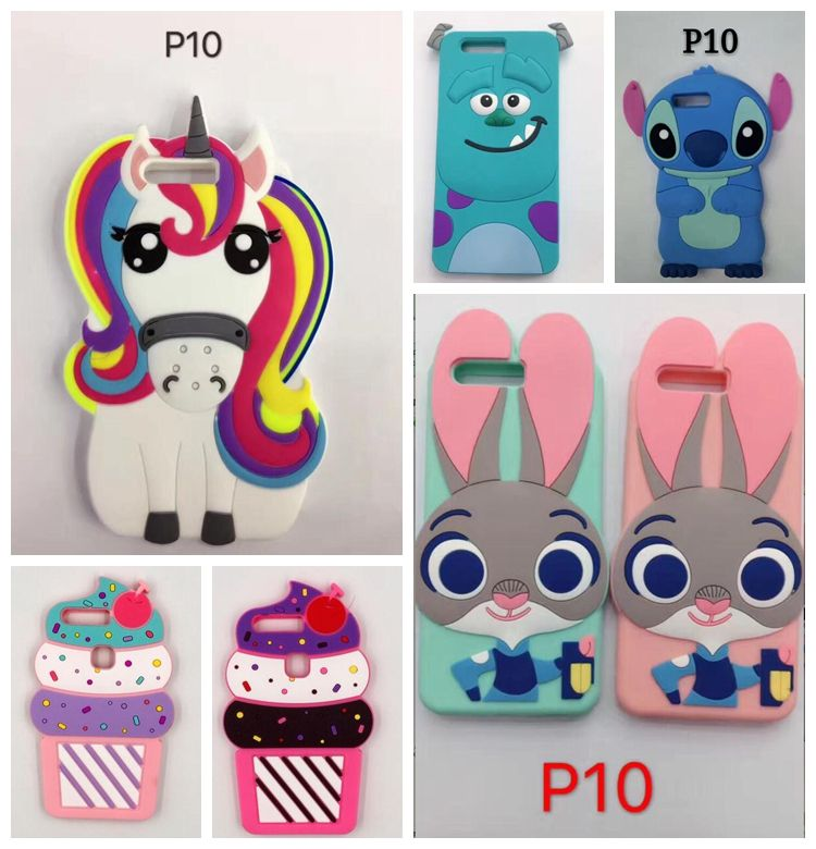 Click To Buy For Huawei P10 P10 Lite New 3d Cute Unicorn Coque Soft Silicone Cover Case For Huawei P10 Plus Sili Silicone Cover Soft Silicone Phone Cases