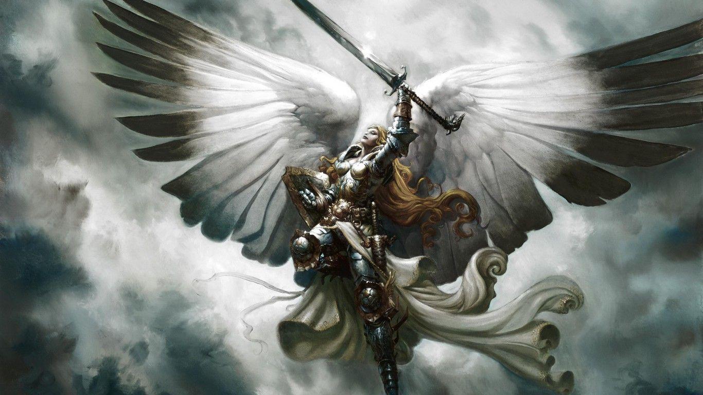 Angel Wallpaper 1366x768 Arcanjo Producao De Arte Anjos