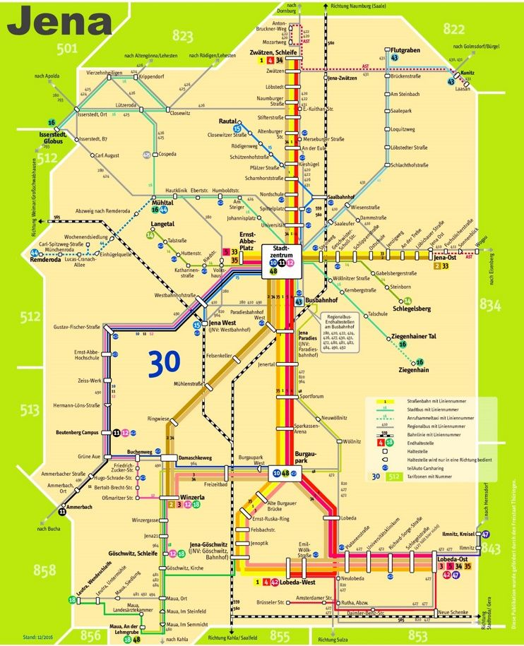 Jena transport map Maps Pinterest Jena and City