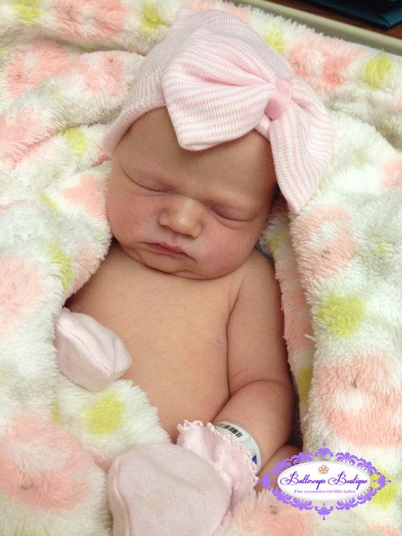 9563b878535 Baby hospital hat newborn hat newborn girl by ButtercupsBeanies ...