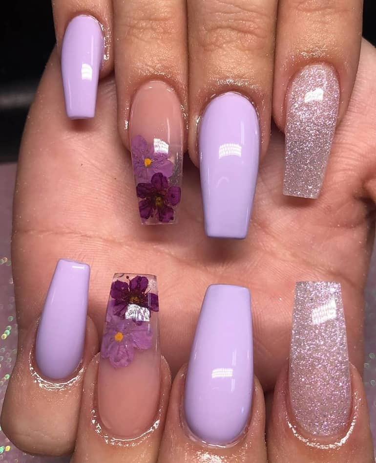 Top 13 Nail Color Trends 2020 Fabulous Nail Colors 2020 45 Photos Purple Acrylic Nails Summer Acrylic Nails Best Acrylic Nails
