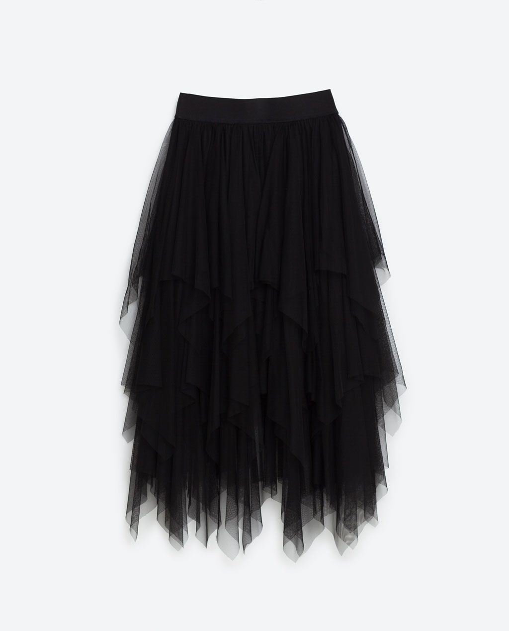 195bc87532 Image 8 of FRILLY TULLE SKIRT from Zara Grey Maxi Skirts, Long Striped  Skirts,