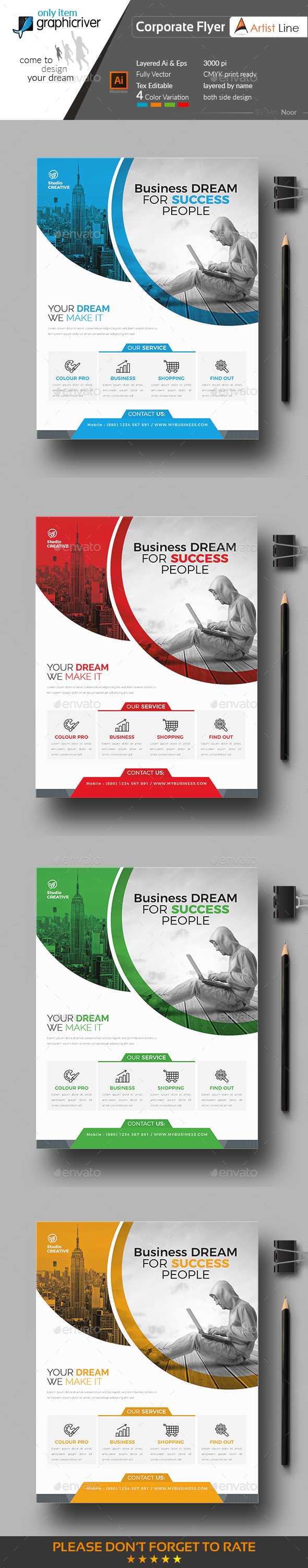 Creative Flyer Creative Flyers Ai Illustrator And Flyer Template
