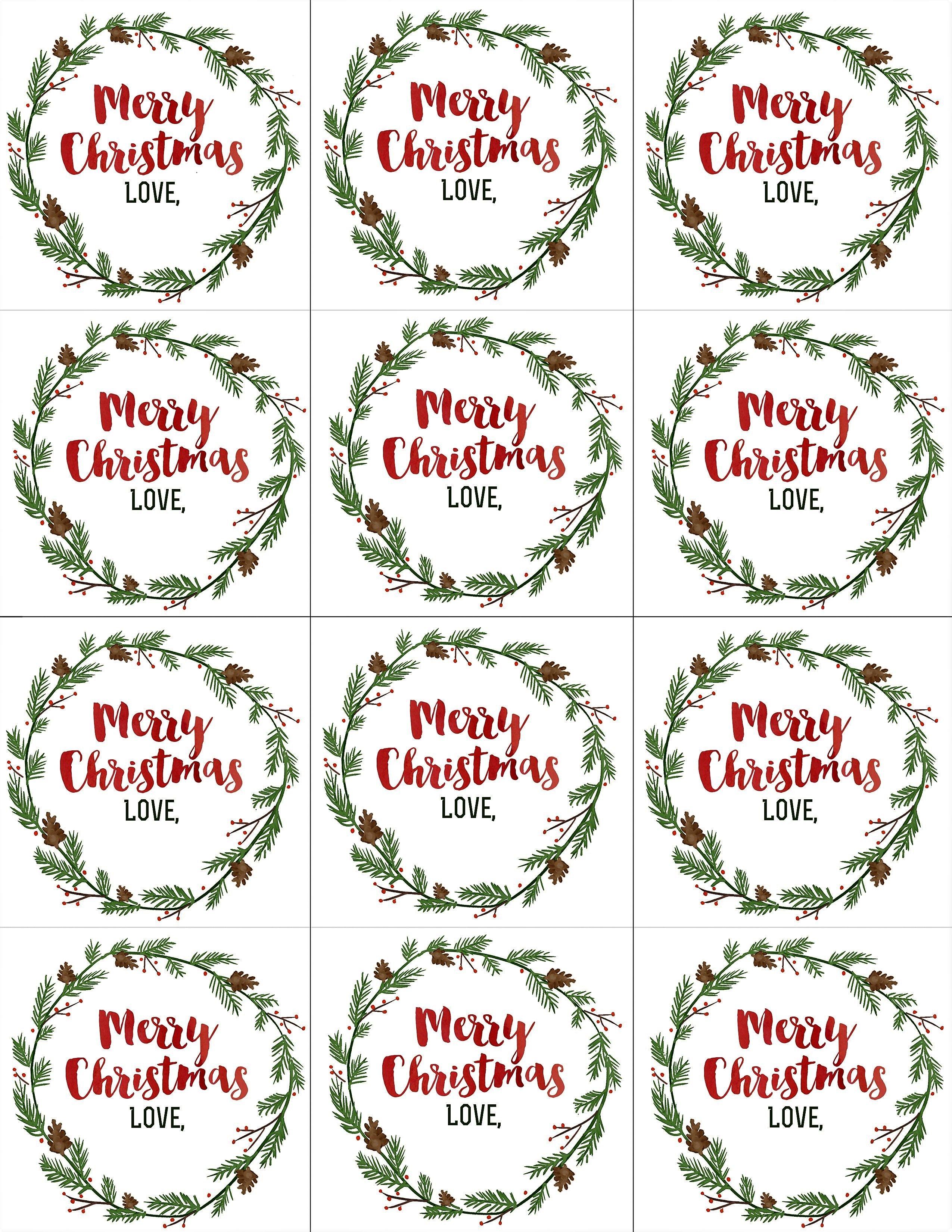 Merry Christmas Gift Tags Printable Diy Christmas Tags Printable Christmas Gift Tags Printable Merry Christmas Gift Tags