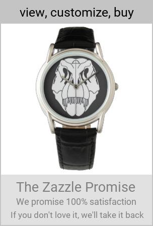 T-Rex (Tyrannosaurus rex) skull black & white Watch | Zazzle.com