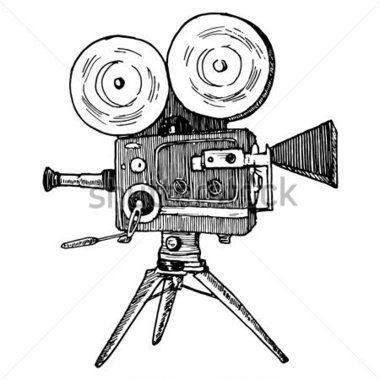 Engraving Style Pen Pencil Crosshatch Hatching Paper Painting Camera Drawing Camera Illustration Cinema Camera