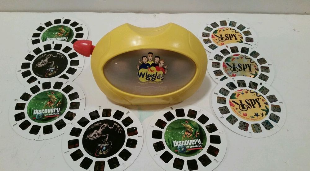 '98/'03 The Wiggles View-Master (6) 1998 Discovery Disk & (3) 2003 I Spy Disk 3D #ViewMaster