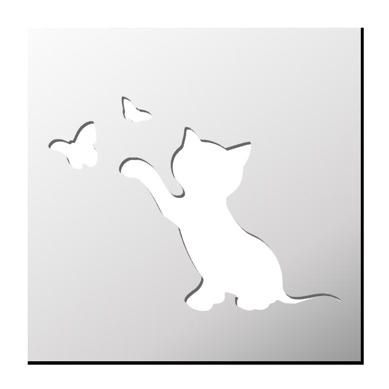 Pochoir Petit Chat Stencil Stencil Designs Animal Stencil és