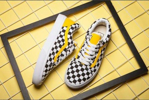 Vans old skool checkerboard black and