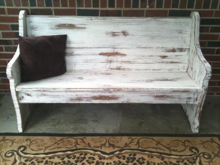 White Hand Painted Distressed Bench Distressed Bench Painted Benches Loft Living
