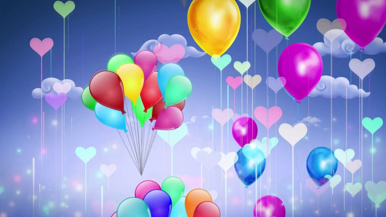 Colorful Cute Cartoon Balloon Rises Kids Photography Video Background Art Drawings For Kids Children Photography Video Background
