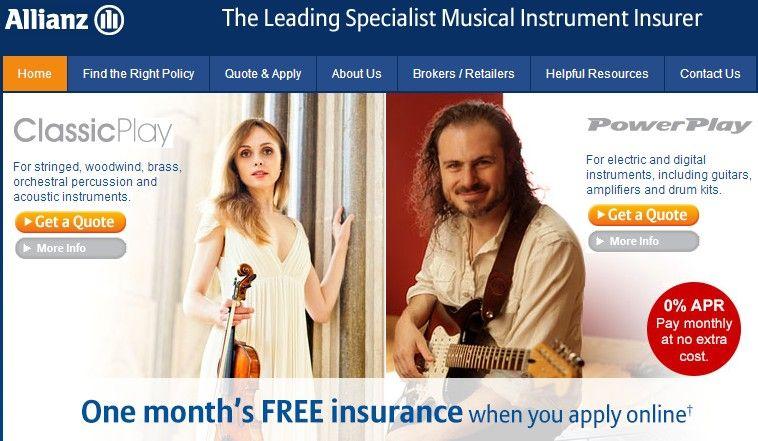 Allianz musical insurance specialists musicals