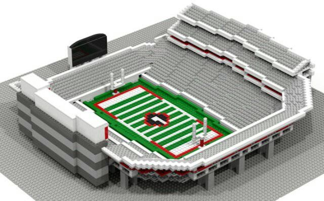 Sanford Stadium constructed out of Legos. | Team Sports Favorites ...