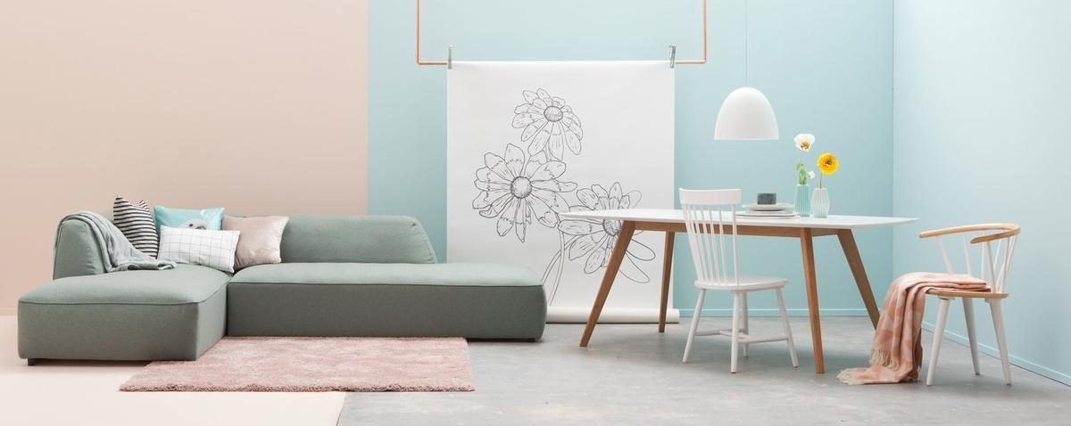 Haal het voorjaar in huis met pastel kleuren in de woonkamer ...