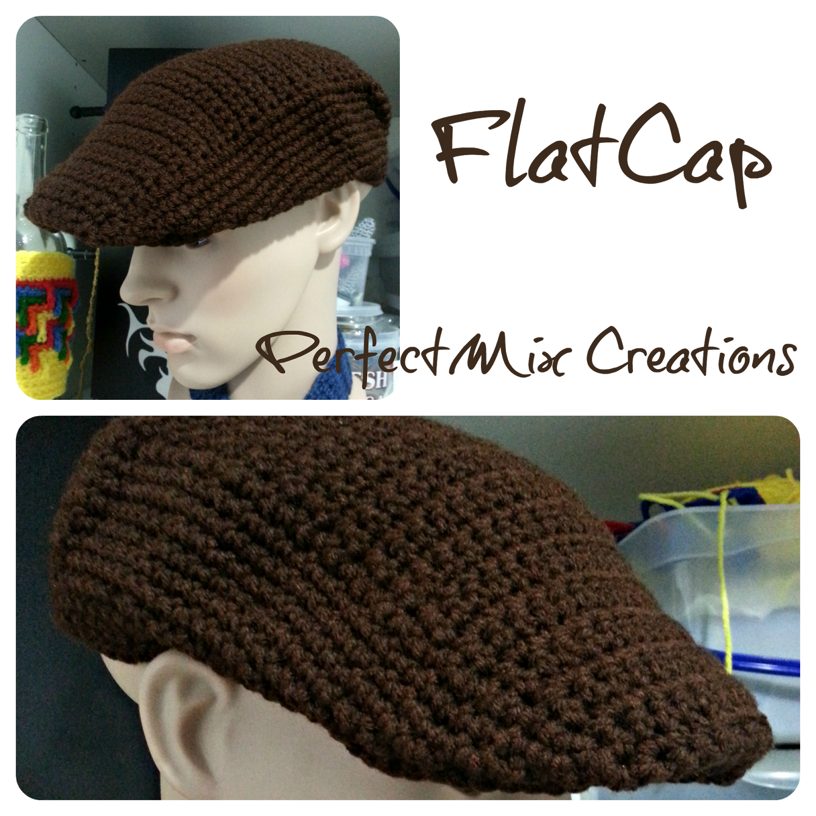 Crochet FlatCap | Crochet | Pinterest | Mütze häkeln, Mütze und Häkeln