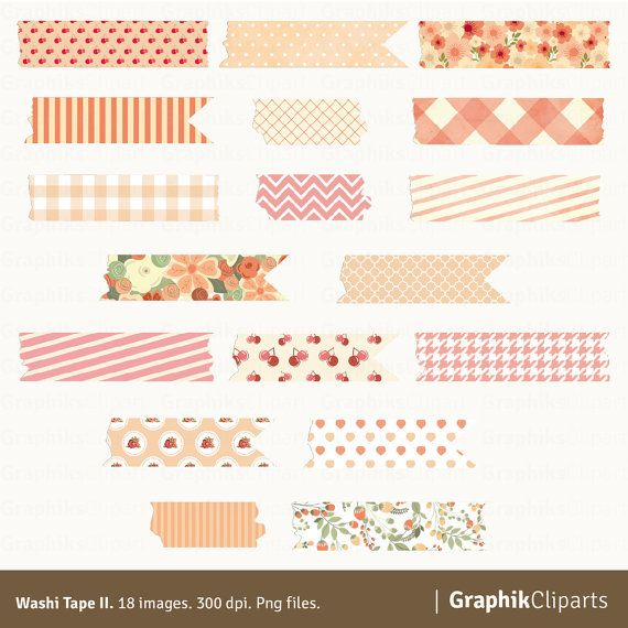 Washi Tape Ii Clipart Digital Washi Tape Mint Blue And Brown Colors 18 Images 300 Dpi Png Fil Bullet Journal Stickers Journal Stickers Washi Tape Planner