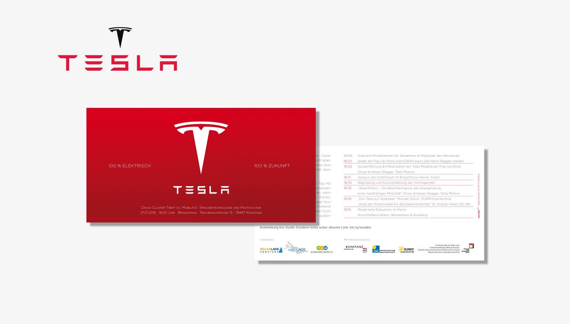 Tesla Flyer Drucken Design Und Konzept