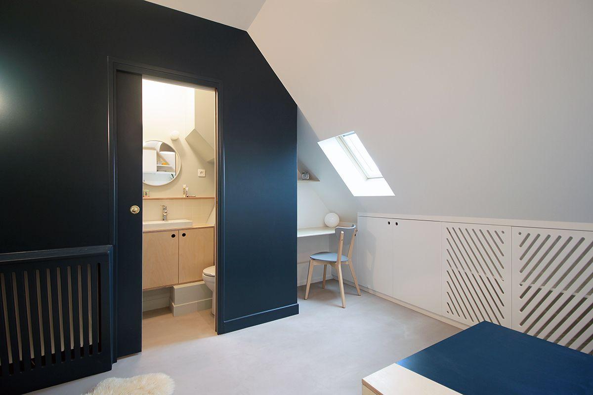 Schuifdeur Voor Badkamer : Stoer mini studio appartement van m badkamer