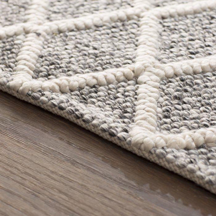 Billie Hand Tufted Cotton Ivory Black Area Rug Rugs In