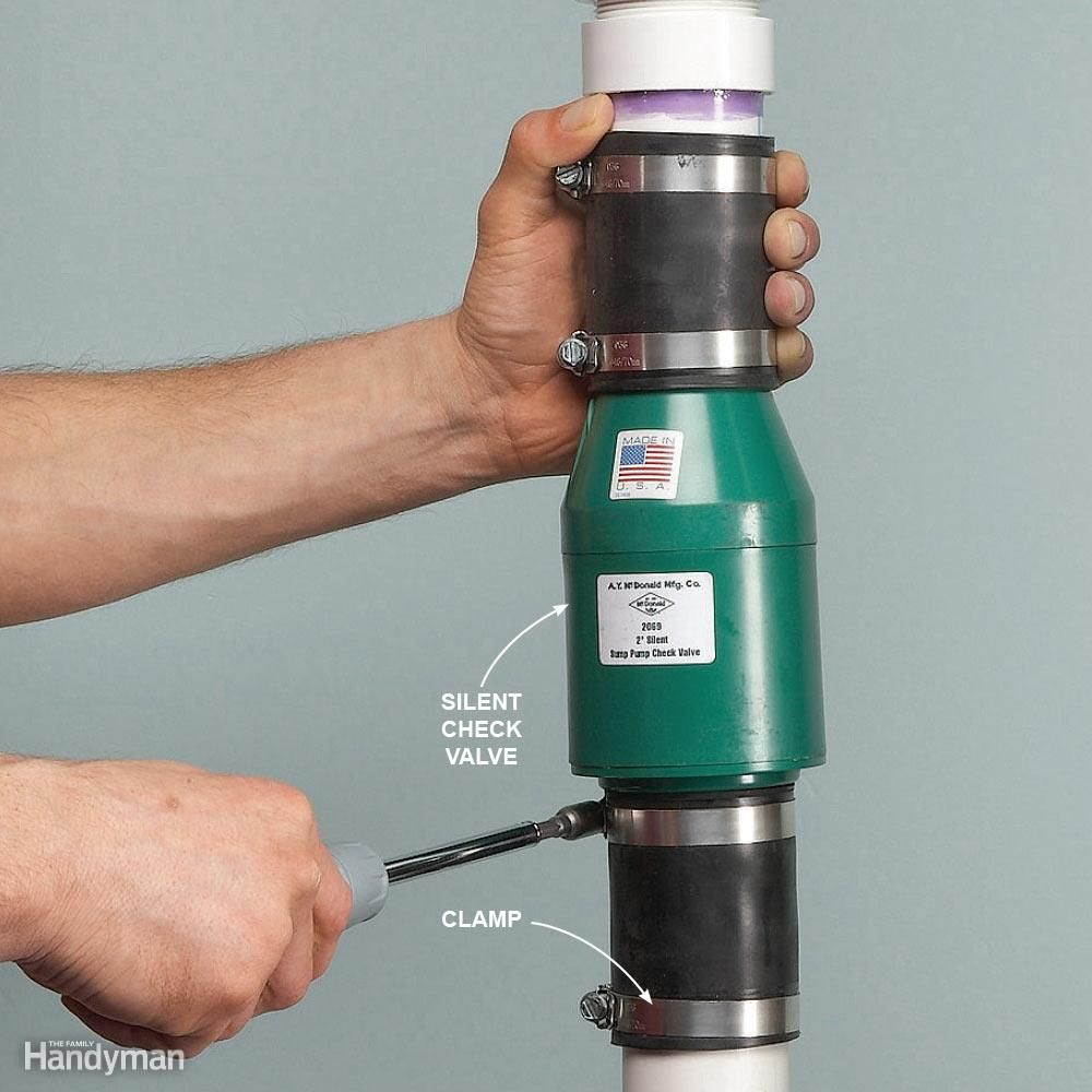 how to replace a sump pump check valve