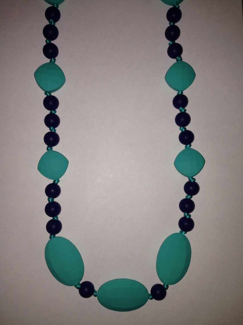 Turquoise/Black Teething Necklace $30 or 2 for $50 www.facebook.com/hootsybaby