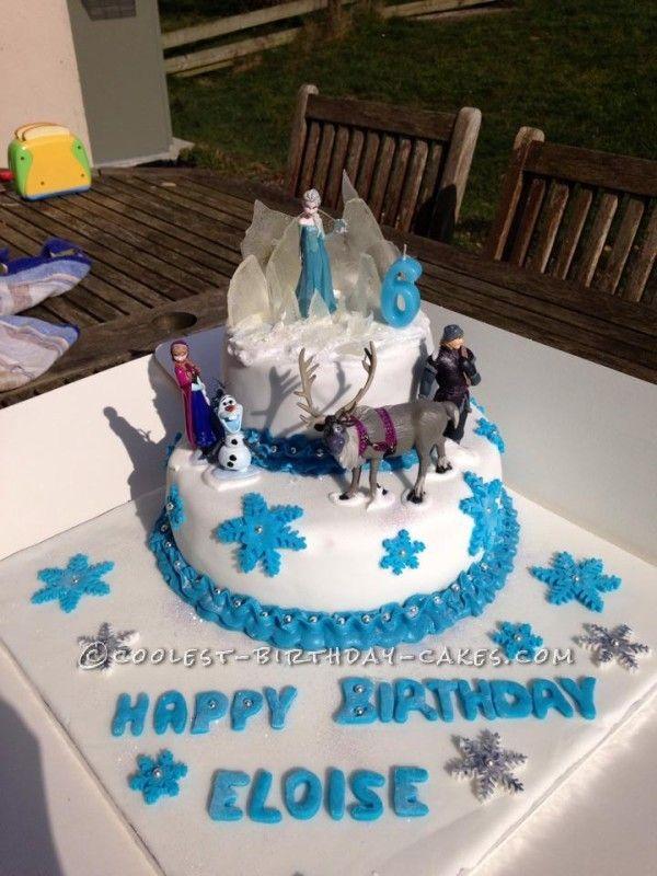 Disneys Frozen Cake for 6 Year Old Frozen Addict Birthday