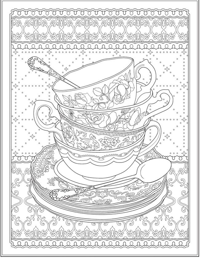 creative haven tea time coloring book adult coloring