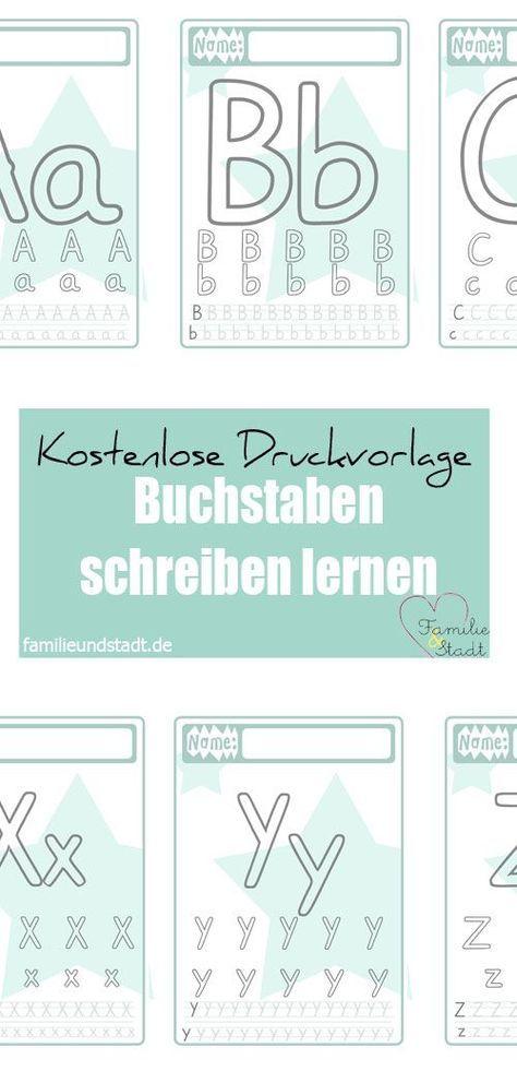Buchstaben Druckvorlage für Kinder | Schule | Pinterest | Montessori ...