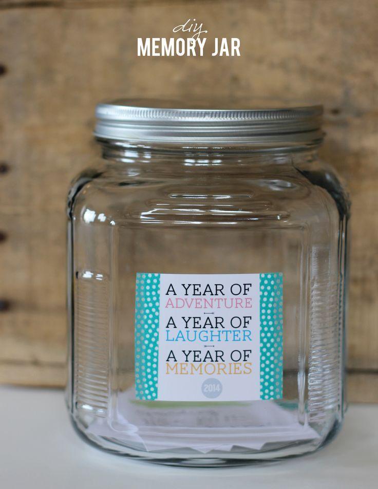 Diy Memory Jar A Year Of Adventure Laughter And Memories Memory Jar Gratitude Jar Happy Jar