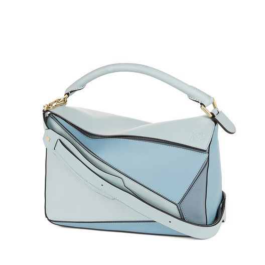 Loewe Puzzle Bag Aqua Light Blue Stone All