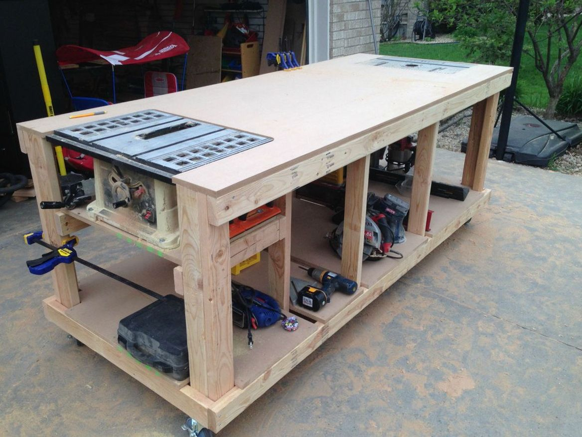Woodworking Table Ideas Mobile Woodworking Bench Plans Home Design Ideas Cool